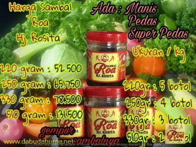 sambal ikan roa WA 085299330523