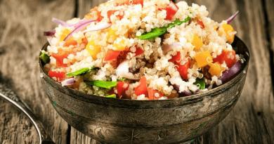 Resep Masakan Quinoa Cilantro Cranberry Chicken Salad