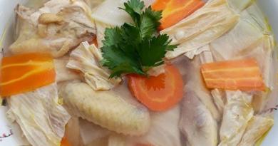 Resep Masakan Sup Ayam Kampung Kembang Tahu