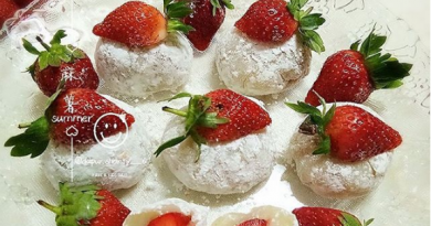 Resep Kue mochi strawberry