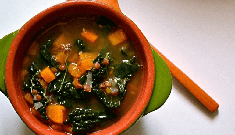 Resep Masakan Lentil Sweet Potato Kale Soup